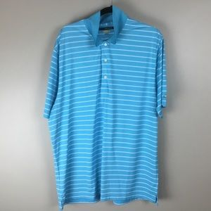 Greg Norman Golf Men's Blue Polo shirt (XL)